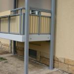 Aluminium-Beton Balkone